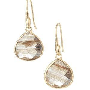 :: Stella & Dot Serenity Stone Champagne Earrings